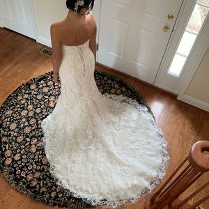 Maggie Sottero Wedding dress intricate lace detail